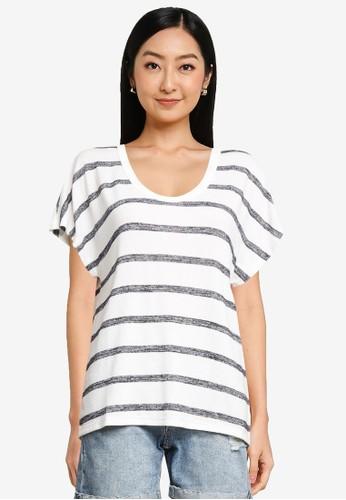 Gap white Softspun Scoopneck T-Shirt 50754AAAD7567BGS_1