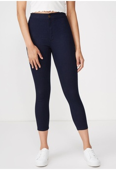 81d3ae82d3c87b Cotton On blue High Rise Capri Jegging 17AF0AAA7F0CFEGS_1