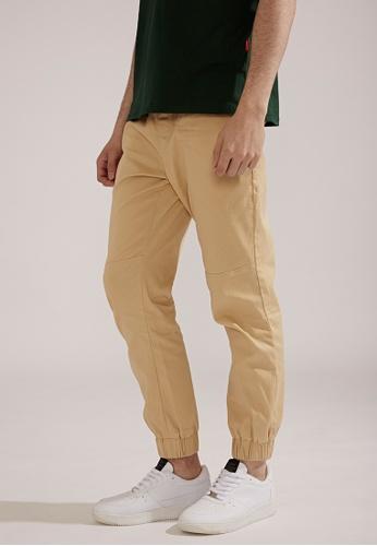 Life8 brown Classic Casual Trouser Jogger Pants-02404-Khaki LI283AA0FBE8SG_1