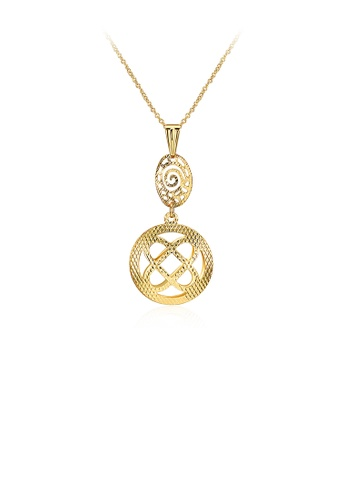 Glamorousky silver Elegant Fashion Gold Plated Pendant with Necklace ED354ACC65939DGS_1