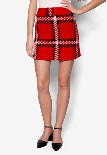 格zalora 台灣紋高腰短裙, 服飾, 服飾