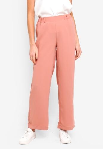 LC Waikiki 粉紅色 素色寬褲 CF698AA1B57E15GS_1