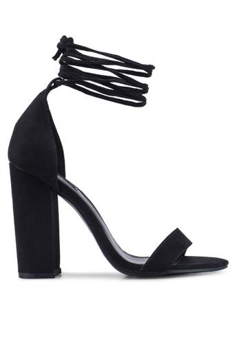 b017376a1ac Faux Suede Wraparound Heels