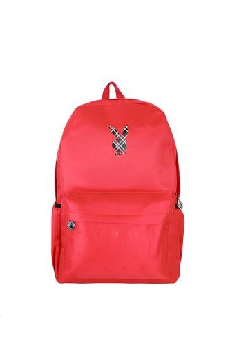 Playboy red Printed Backpack 6AF08AC4AA4F2AGS_1