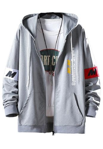 Trendyshop grey Printed Hoodies Zip Up Jacket 5E7E3AAFFC7720GS_1
