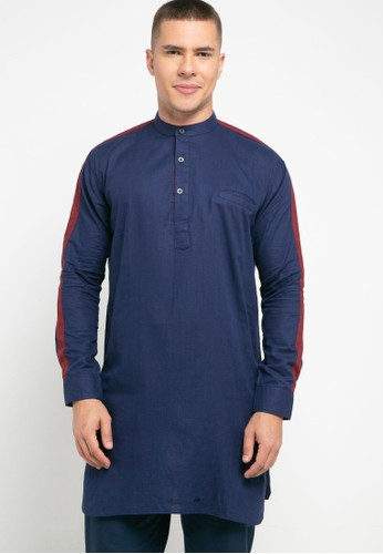 Introspect clothing navy Kemeja Koko B4672AACB1C7D6GS_1