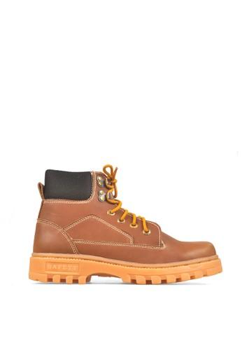 CBR SIX brown CBR SIX Boot Ben's Carter Avente PU Leather Brown Men's Shoes CB927SH00YCXID_1