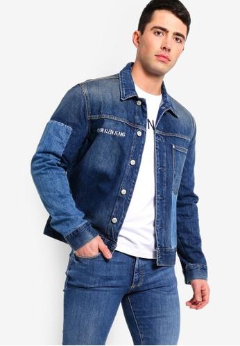 f6376daab1 Calvin Klein blue 1 Pocket Trucker Denim Jacket - Calvin Klein Jeans  260DBAAAEBF7D6GS_1