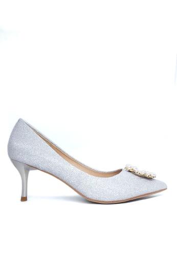Twenty Eight Shoes 亮片珍珠扣婚鞋 208-8 C92F3SHC44D280GS_1