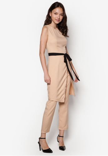 Sandra 裹飾連身zalora 內衣長褲, 服飾, 長褲及內搭褲
