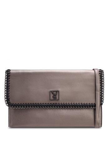Playboy silver Playboy Clutch/Sling Bag 8E0C7AC4CE8E50GS_1