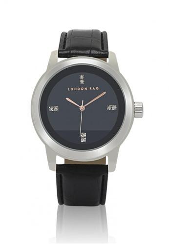 London Rag black Casual Watch With CROC PU Leather Strap A8078AC66F9CC7GS_1