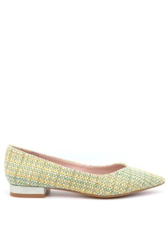 PRODUIT PARFAIT green Pointed Toe Ballerina 2B287SH9ADD047GS_1