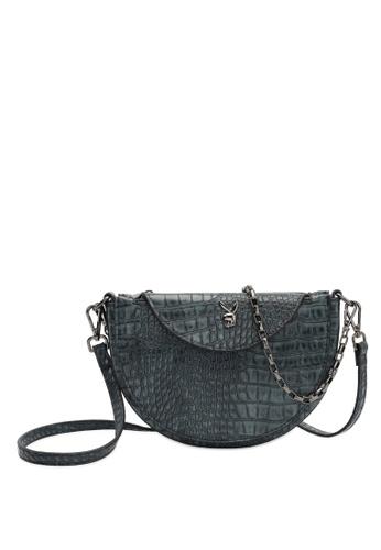 PLAYBOY BUNNY green Playboy Bunny Chain Handle Sling Bag A5B42ACEC54E64GS_1