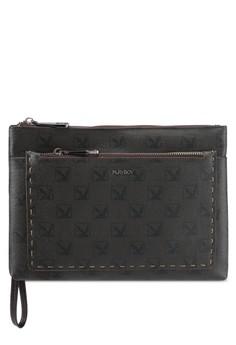 【ZALORA】 Playboy時尚設計感手拿包