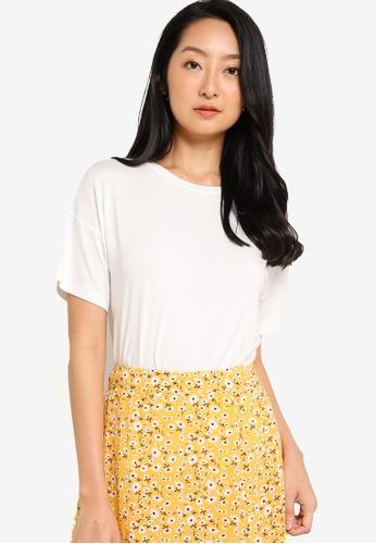 ZALORA BASICS white Oversized T-Shirt FAB56AA40601C3GS_1