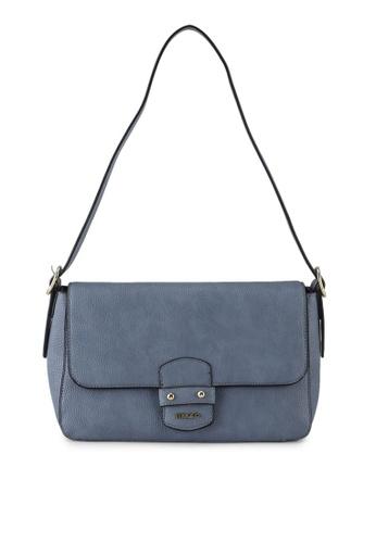 Mel&Co blue Faux Leather Shoulder Bag 5126BAC14C964EGS_1