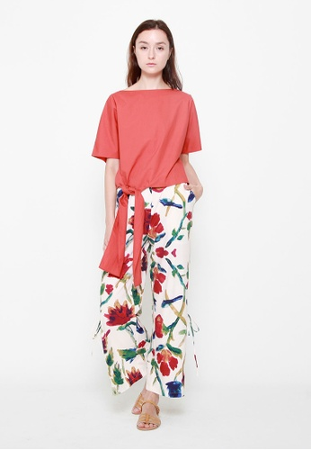 QLOTHE multi Eleanor Side-slit Maxi Pants 789EDAA46F6E1FGS_1