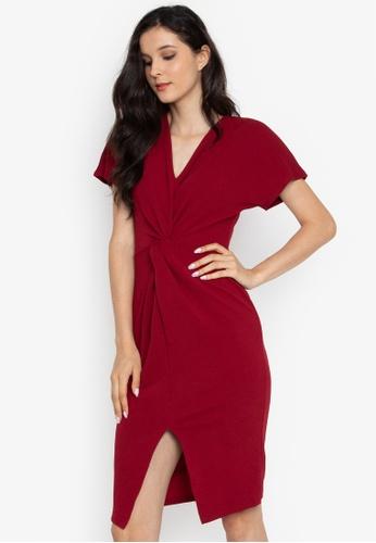 Shop Dorothy Perkins Berry Wrap Manipulated Dress Online on ZALORA ... 7fd878291