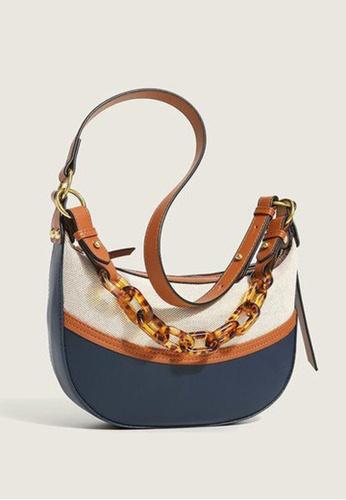 Lara multi Women's Fashionable Leather Zipper Hobo Bag - Multi A23A4ACC97A98DGS_1