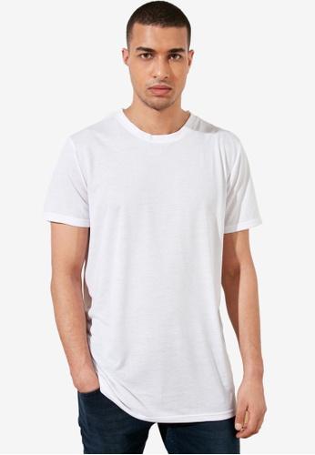 Trendyol white Basic Crew Neck Longline T-Shirt 96AEEAA0976B09GS_1
