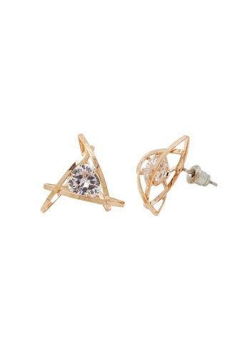 Jaysa Collection gold Avant Garde Rose Gold Class AAA Zirconia Earrings JA875AC0GE8MSG_1