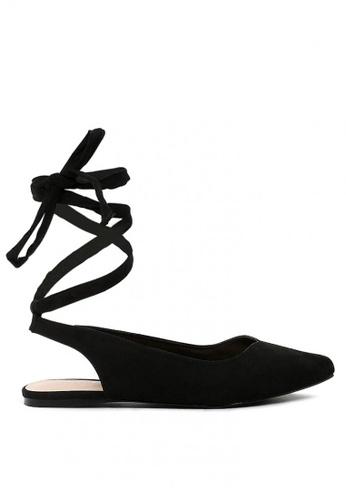 London Rag black Ankle Strap Lace up Sandal 39176SH2284097GS_1