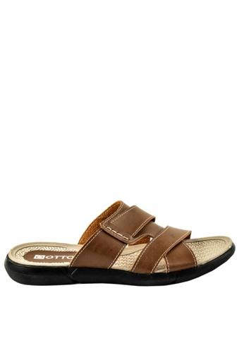 Otto beige Cross-over Slide Sandals 77E3FSHD05BFB3GS_1