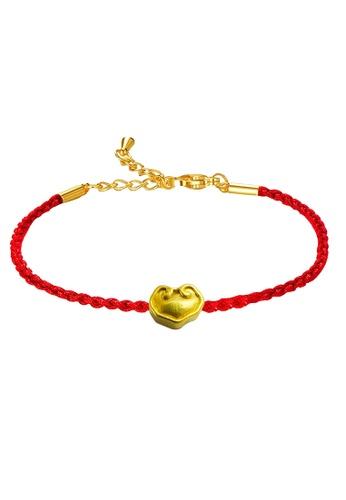 LITZ gold [SPECIAL] LITZ 999 (24K) Gold Ru Yi Charm With Bracelet EPC0956-B-R(0.15g+/-) 3A4D6AC7DA42EFGS_1