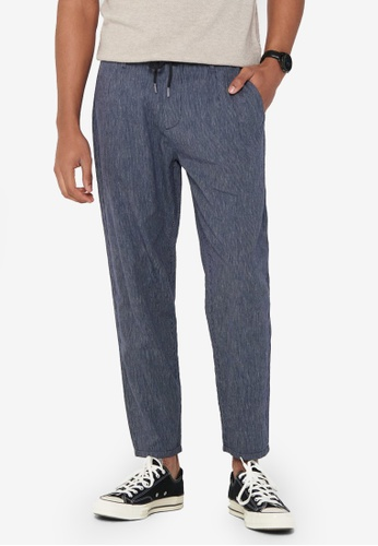 Only & Sons navy Leo Striped Drawstrings Pants 4E833AABF12600GS_1