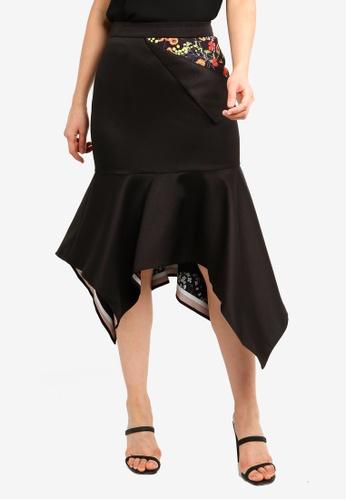 adfe6174a5 Shop BYSI Asymmetric Peak Floral Skirt Online on ZALORA Philippines