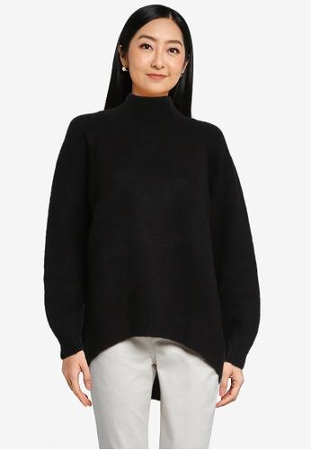 LOWRYS FARM black High Neck Knit Sweater 77747AAAE4BF14GS_1