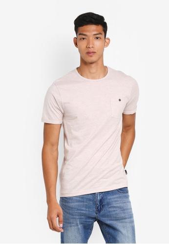 Burton Menswear London 粉紅色 休閒混色口袋T恤 7D654AA380890DGS_1