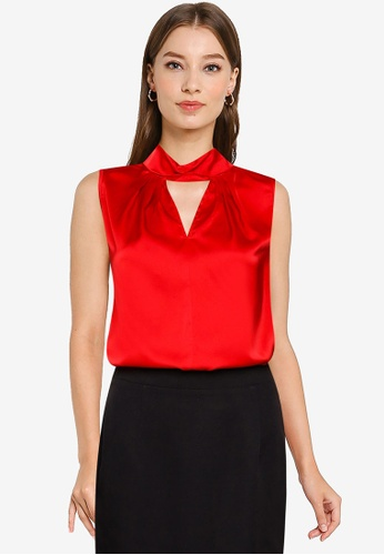 ZALORA OCCASION red Knot Detail Top B8A14AAC62AC89GS_1