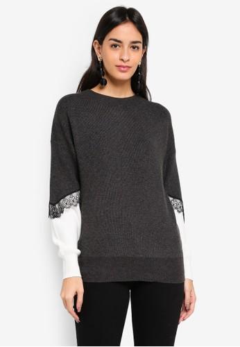 Vero Moda multi and grey Smilla O-neck Sweater 87F41AAFBC0277GS_1
