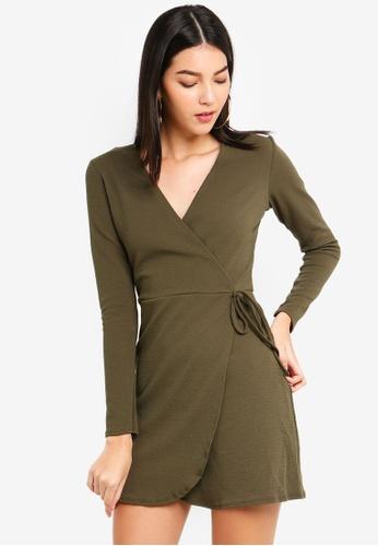 1b419065fe Shop MISSGUIDED Tie Side Tea Dress Online on ZALORA Philippines