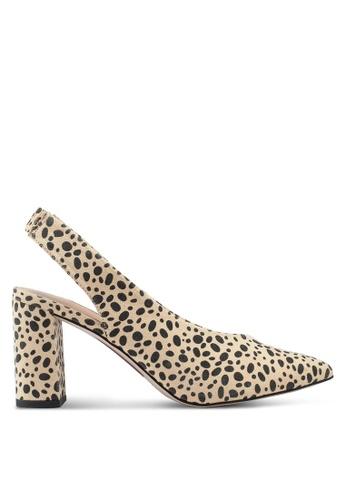 Dorothy Perkins 黃色 Cheetah Everley Court Heels D2EB6SHB25BCC6GS_1