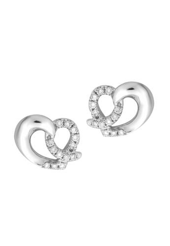 TOMEI white TOMEI Earrings of Rays of Vividly Loving Vibes, Diamond White Gold 375 (E1382) B6BB4ACF633B8AGS_1