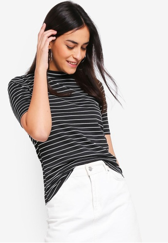 ZALORA BASICS multi Basic Mock Neck Short Sleeves Top 901E4AA39DD610GS_1