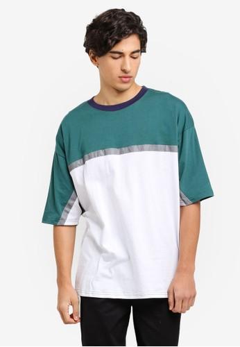 Factorie green and multi Reflector Block T Shirt D6E51AA73CA9C3GS_1
