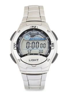 harga Casio Round Watch Man Illuminator W-753D-1A Zalora.co.id
