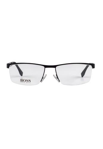 Hugo Boss black HUGO BOSS Rectangle Black Eyewear 0734FS HU898AC39OWEMY_1
