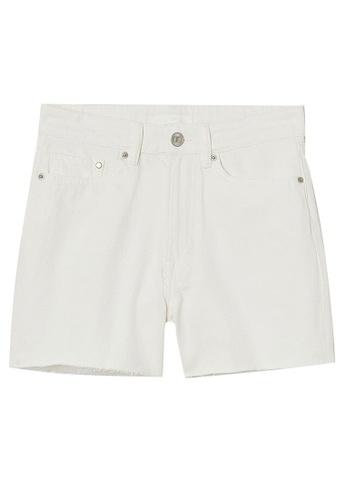 H&M white Shorts 46056AA4E2D02DGS_1