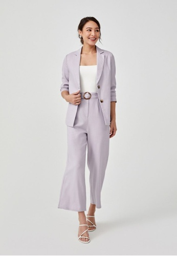 Love, Bonito purple Joselyn Button Front Blazer 81122AAA1C8186GS_1