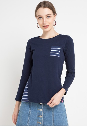 Cressida Ladies navy Jaselyn Blouse 2A50BAAED3C665GS_1