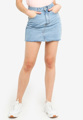 Factorie blue Classic Denim Skirt 3C177AA3FD1F6EGS_1