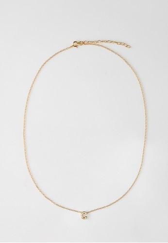 AEROCULATA Aeroculata C Mini Cara Necklace 925 Sterling Silver Gold 4D97AAC1162E67GS_1