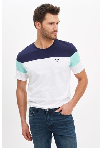 DeFacto white Man Knitted T-Shirt 095ABAA22B640BGS_1