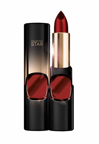 L'Oréal Paris red L'Oreal Make Up Designer CR Star 24Gold Lipstick RB602 ASJP-Scarlet Gold LO618BE19MJOMY_1