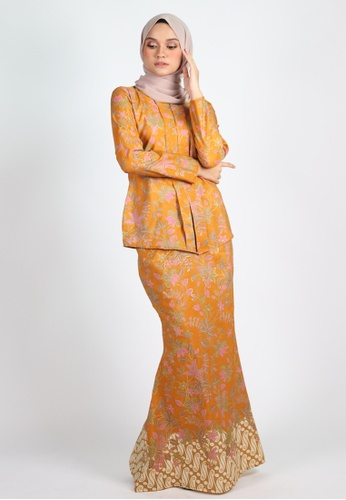 SARIMA KEBAYA from Coudre Kuala Lumpur in Yellow and Gold and Beige